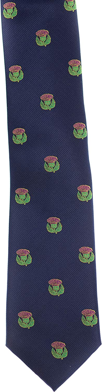 Thistle Scottish Silk Necktie Ties for Men