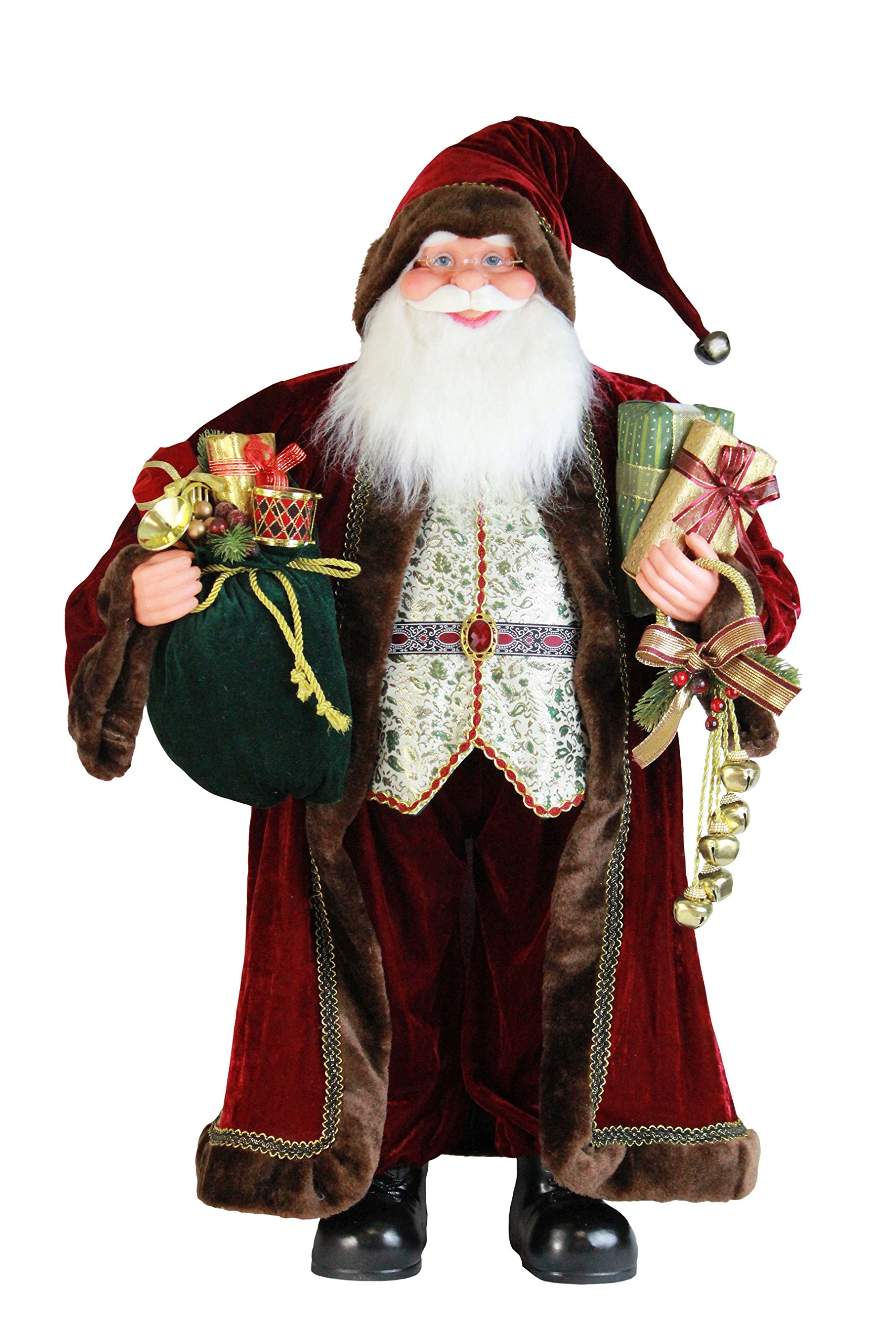 36'' Inch Standing Sensational Santa Claus Christmas Figurine Figure Decoration 36713 by Windy Hill Collection