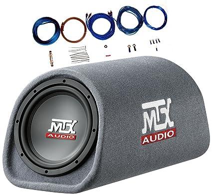 amazon com mtx rt8pt 8 240 watt amplified loaded subwoofer tube rh amazon com