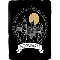 Jay Franco Harry Potter Moonrise Blanket - Measures 60 x 90 inches, Kids Bedding Features Hogwarts - Fade Resistant Super Soft Fleece (Official Harry Potter Product)
