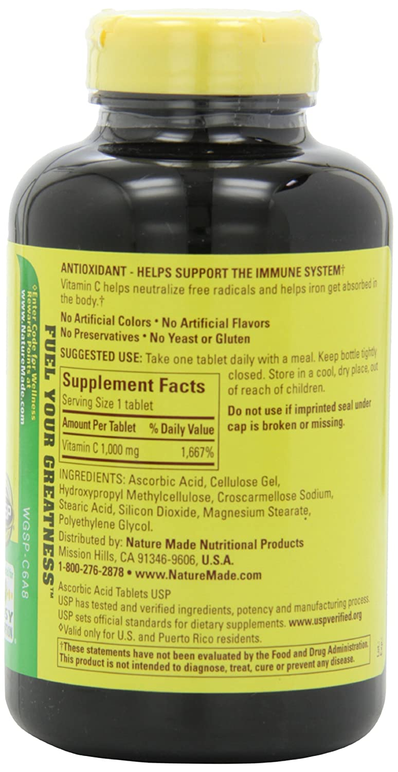 Buy herbal supplements 1000 count capsules - Amazon Com Nature Made Vitamin C 1000mg 300 Tablets Health Personal Care