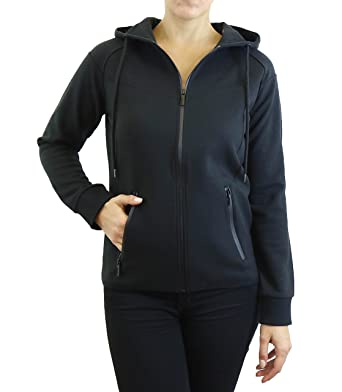 d9e69d40f39e Galaxy by Harvic Ladies Tech Fleece Hoodie with Heat Seal Zippers. Multiple  Colors and Sizes Available. at Amazon Women s Clothing store