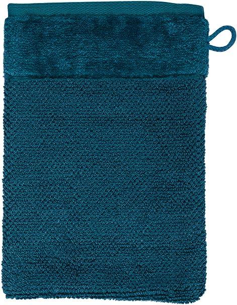 Möve Bamboo Luxe Manopla de baño, algodón, Azul Verdoso, 15 x 20 ...
