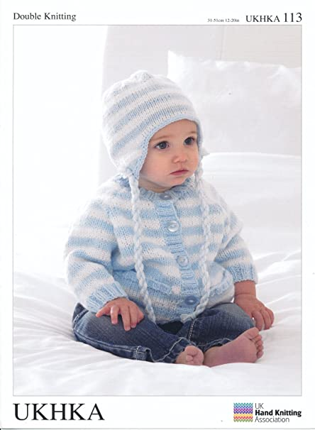 Amazon Com Double Knitting Dk Pattern Baby Long Sleeved Striped