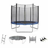 ALICE'S GARDEN - Garden Trampoline - Mars 10ft Trampoline with Safety Enclosure Netting - Blue - PRO Quality | EU Standards