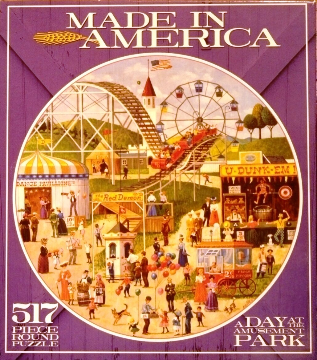 Ceaco Made in America Series Round Puzzle,