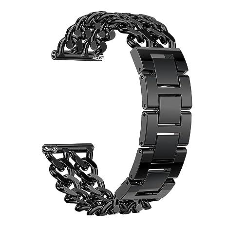 Aresh para Fitbit Versa Correas Bandas, Fitbit Versa Metal sólido Acero Inoxidable Watch Band con Kit de extracción de eslabones Correa de pulsera ...