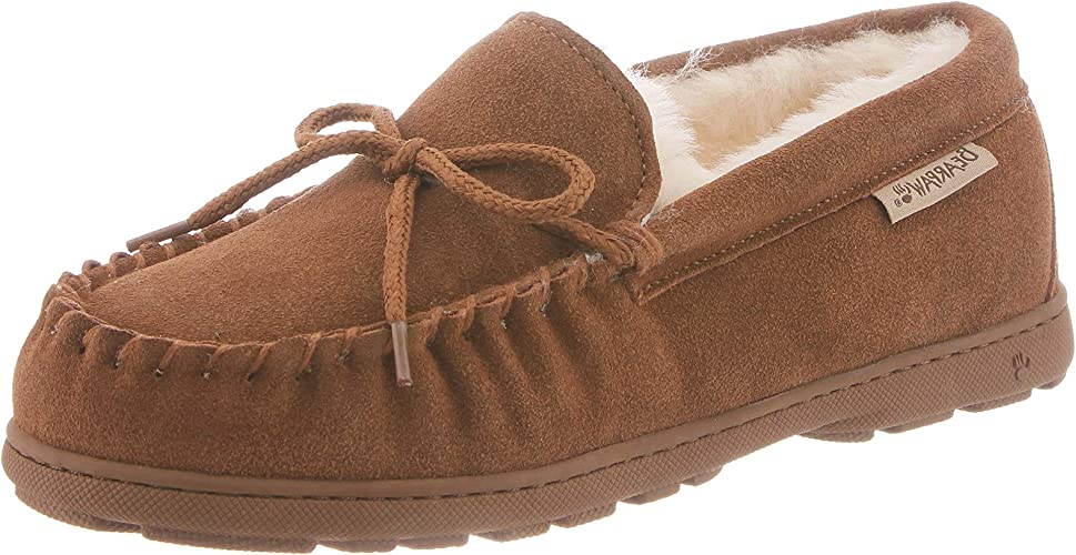 Women/'s Warm Moccasin Slippers Hickory 11 Bearpaw Mindy