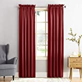 "Sun Zero Barrow Panel de cortina de bolsillo para barra de eficiencia energética, Rojo (Brick Red), 54"" x 84"""