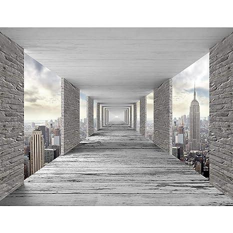 Fototapete 3D New York 396 x 280 cm Vlies Wand Tapete ...