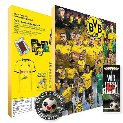 Borussia Dortmund Comic Adventskalender Xxl Fairtrade Bvb Plus Je 5 X Lesezeichen Aufkleber Wir Lieben Fussball