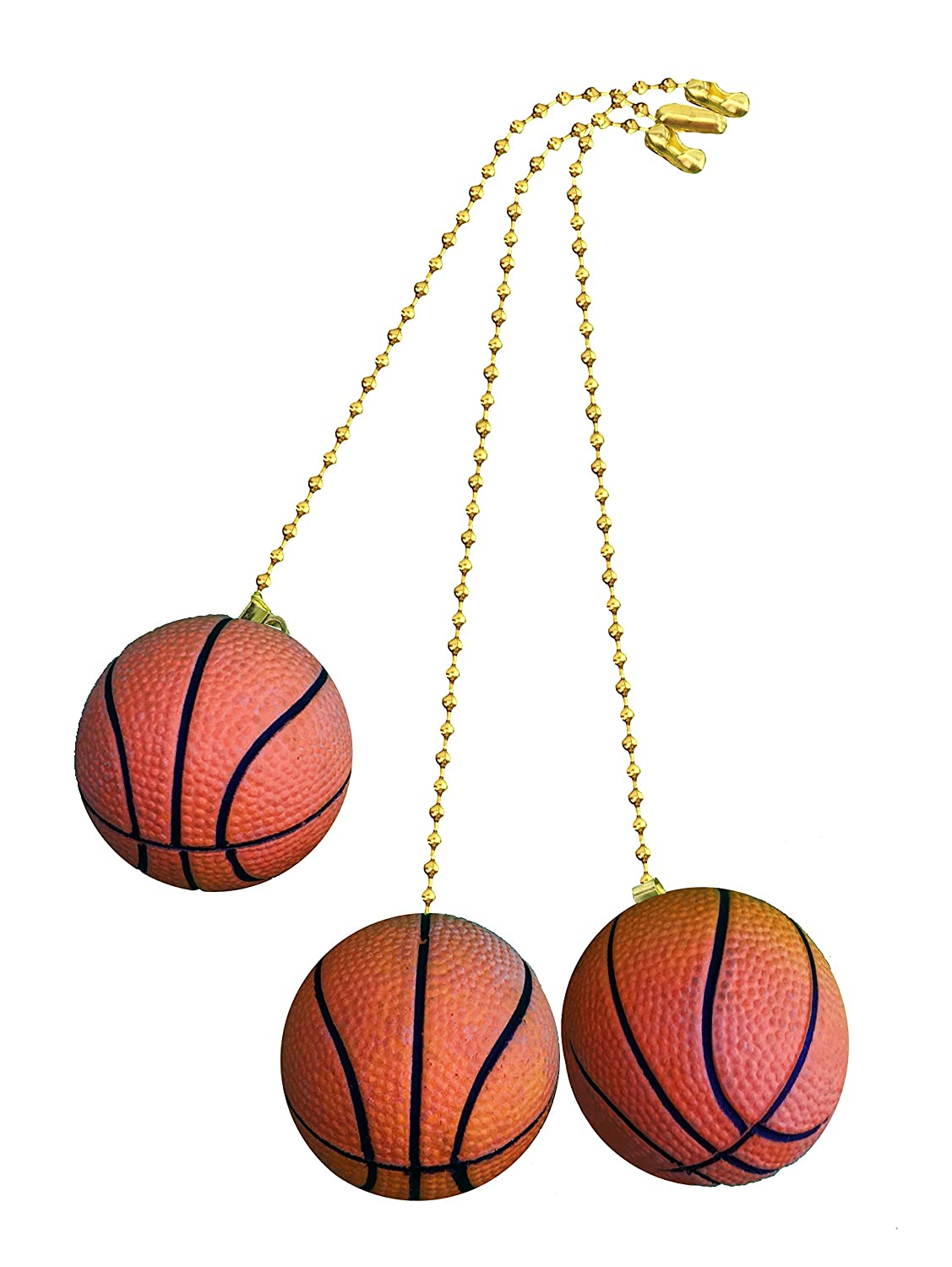 Decorative Basketball Sports Ceiling fan pull with beaded chain - 3 ...
