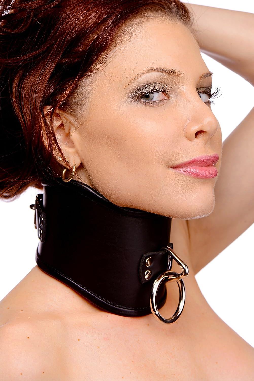 LARGE Strict Leather Locking Posture Collar, Large
