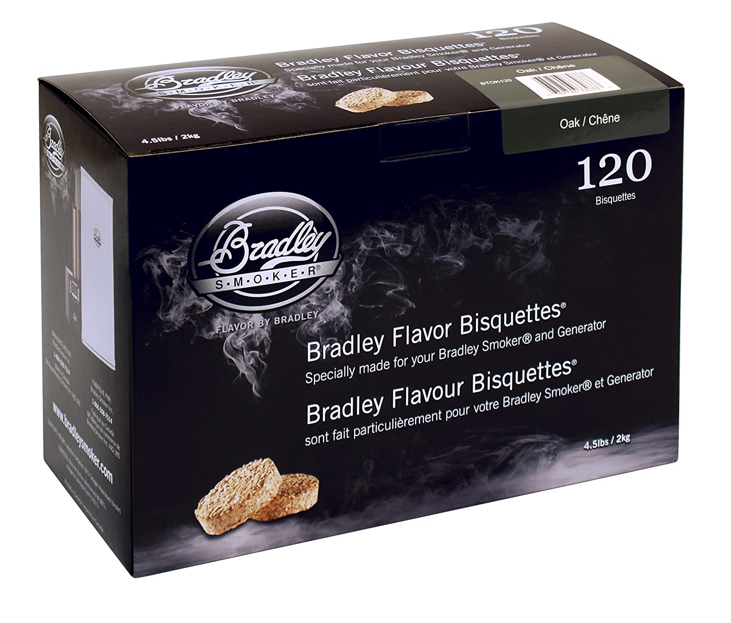 Bradley Smoker Oak 120 Pack BTOK120