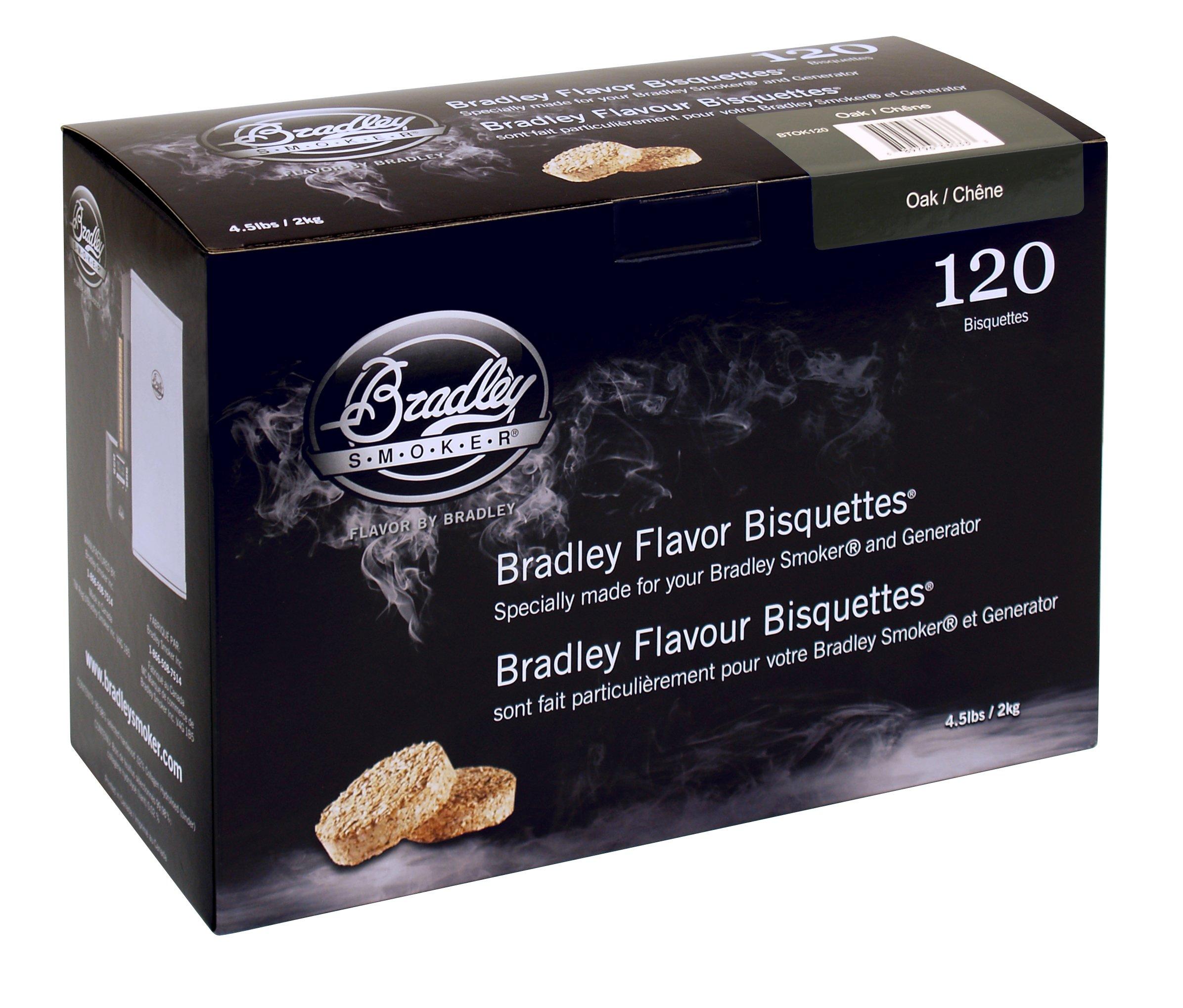 Bradley Smoker BTOK120 Oak Bisquettes 120 pack by Bradley Smoker