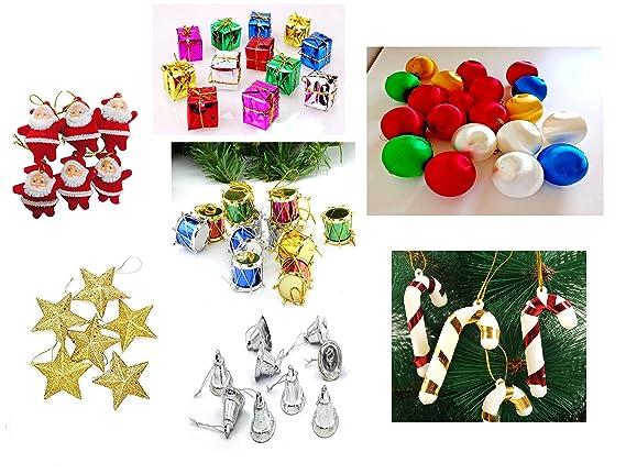 Moira 70 pcs Christmas Tree Mini Ornaments Decoration Combo