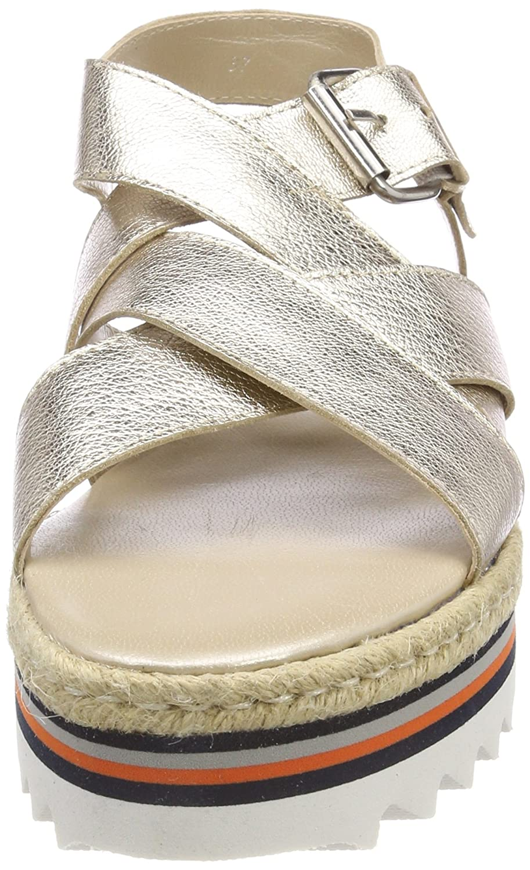 MELVIN & HAMILTON MH HAND HAND HAND MADE Schuhe OF CLASS Damen Celia 25 Offene Sandalen Beige (Cherso/Bisque/Eva Multi Rs) 630104