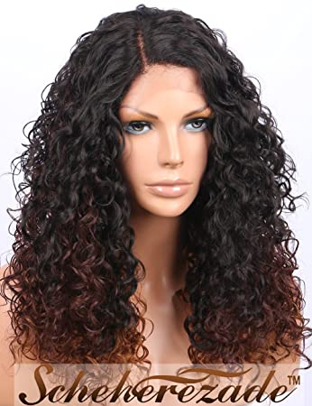 Scheherezade Soft Curly Lace Front Wigs for Black Women - Realistic Looking  3 Tones Brown Ombre 7cbc91ef64