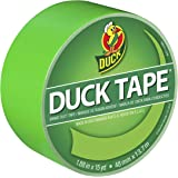 Duck 1265018 Color Duct Tape Neon Lime Green, 1.88 Inches x 15 Yards, Single Ro