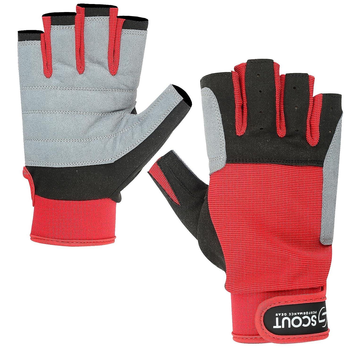 【訳あり】 新しいSailing Gloves Medium(7.5\ Kayak YachtingロープDinghy釣りWaterskiスポーツBoatingレッドグレー Medium(7.5\ 新しいSailing Gloves B074HHHMC3, 防府市:63d93cea --- a0267596.xsph.ru