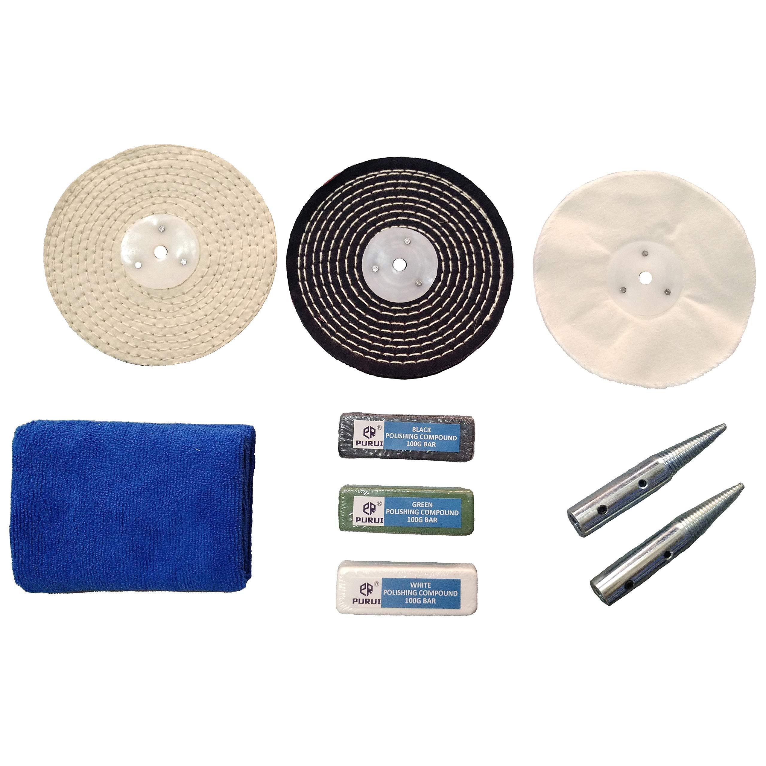 "Enkay 156-6K 6/"" Buffing /& Polishing Kit For Buffers /& Grinders"