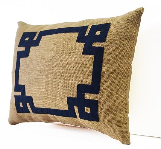 Amore Beaute Decorative Cushion Cover Throw Pillow Greek Key Design