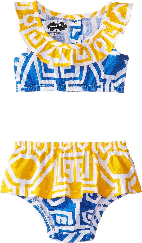 Mud Pie Under the Sea Geometric Print One-Piece Swimsuit