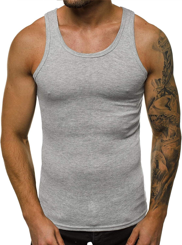 OZONEE Herren Tank Top Tanktop Tankshirt /Ärmellos Bodybuilding Shirt Unterhemd T-Shirt Muskelshirt Achselshirt /Ärmellose Training Gym Sport Fitness Freizeit Rundhals JS//NB002