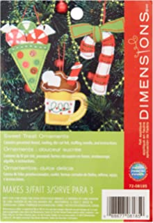 Dimensions Sweet Treats Ornaments Felt Applique Craft Kit, ...