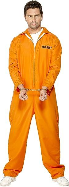 Smiffyu0027s Menu0027s Escaped Prisoner Costume with Boiler Suit Orange ...  sc 1 st  Amazon.com & Amazon.com: Smiffyu0027s Menu0027s Escaped Prisoner Costume with Boiler Suit ...