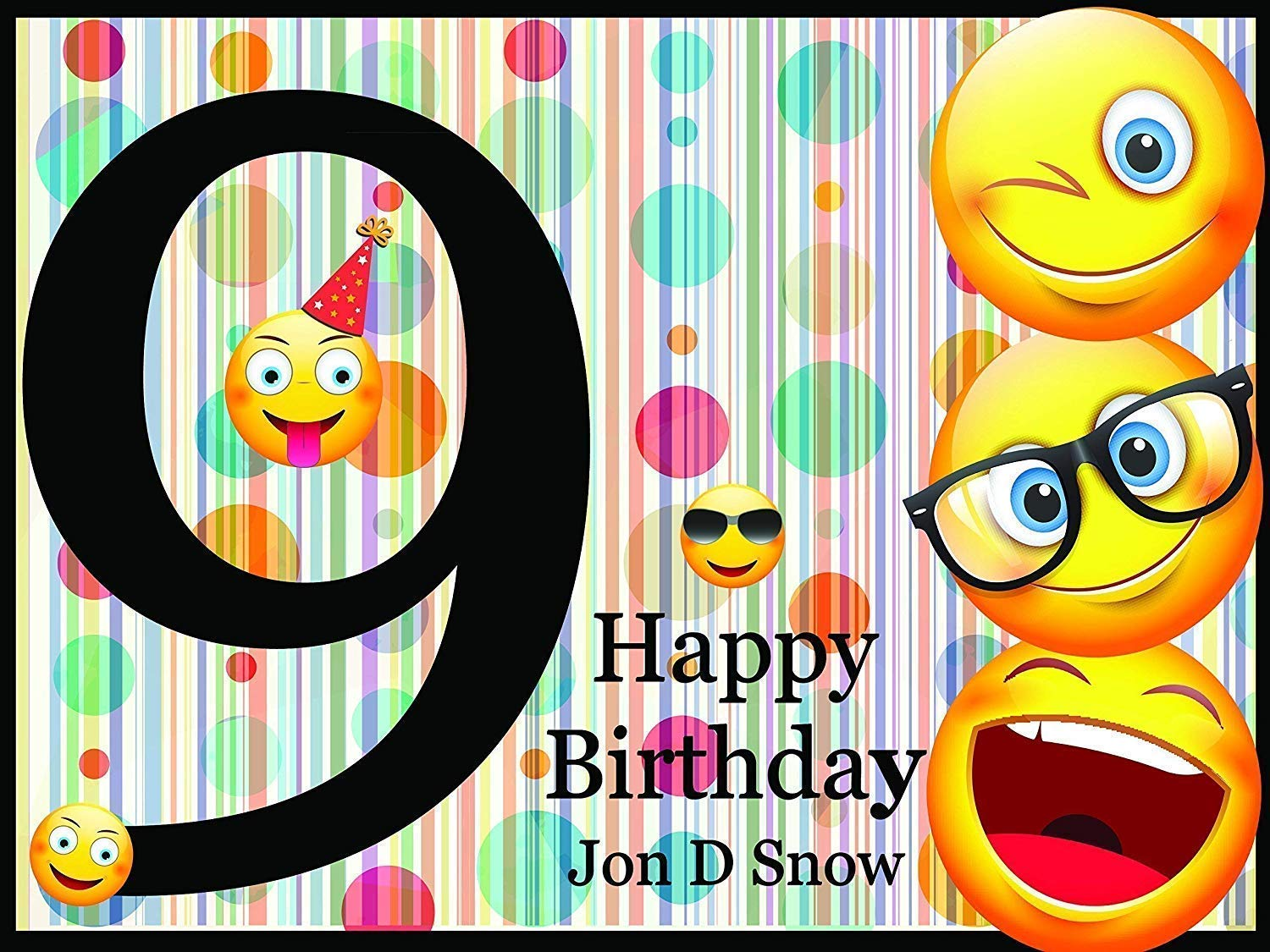 48x36 happy birthday decorations Size 24x36 Emoji Backdrop Emoji party Supplies Wall Decor Handmade Party Supplies 48x24 Wall Poster Personalized 9th Birthday Banner Happy Birthday Banner