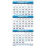 House of Doolittle 2018 Wall Calendar, Three-Month Vertical, 12.25 x 26 Inches, December - January (HOD3640-18)