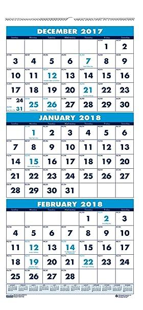House Of Doolittle 2018 Wall Calendar Three Month Vertical X