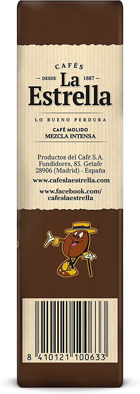 La Estrella - Café Tostado Molido Mezcla - 250 g: Amazon.es ...