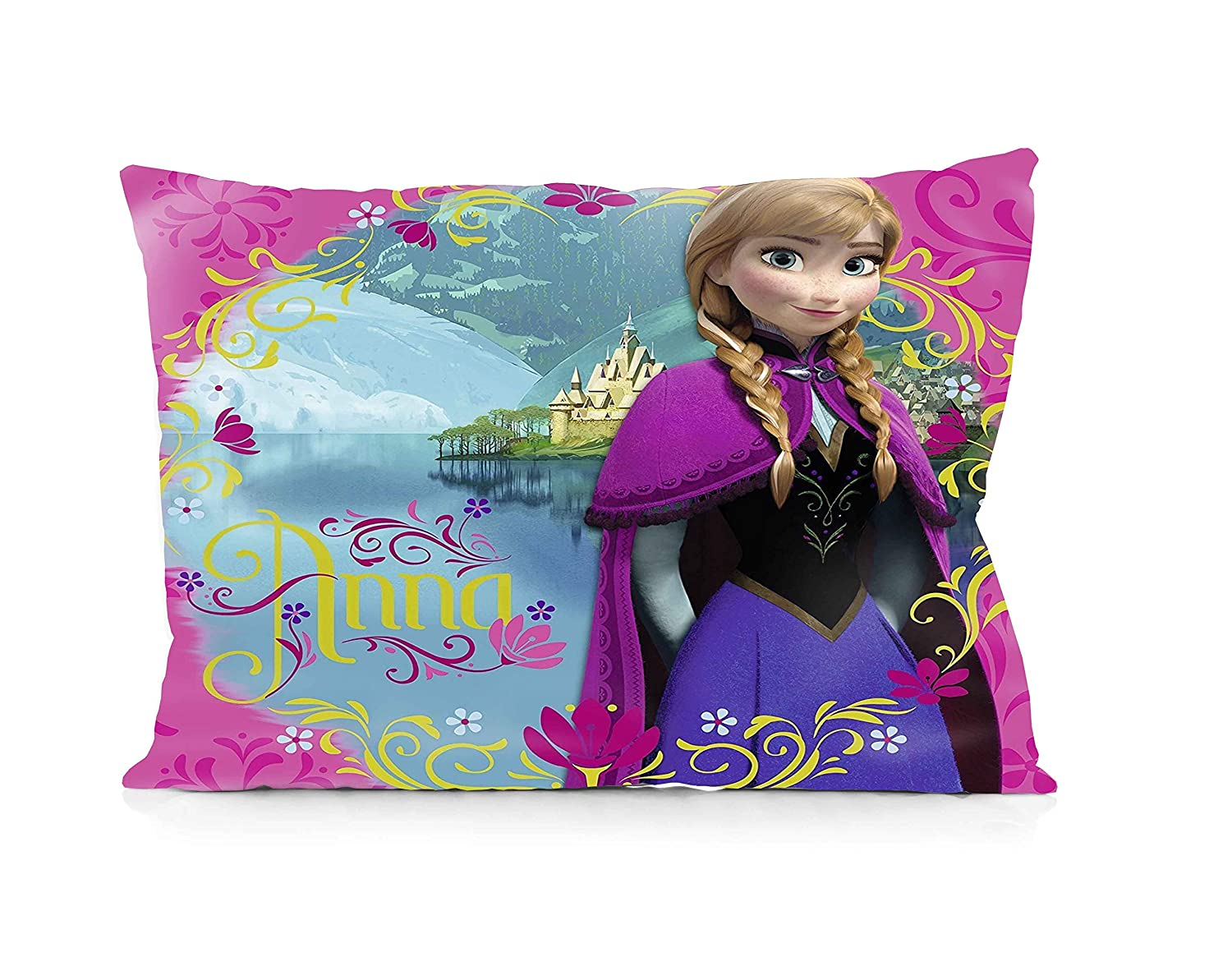 Frozen Disney Pillowcase Size 20x30 Inches Two Sides Print Zipper