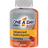 ONE A DAY Women's 50+Gummies Advanced Multivitamin with Brainsupport,super8 Bvitamincomplex,110count, Strawberry, 110…