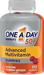 One A Day Women's 50+ Gummies Advanced Multivitamin with Brain Support,