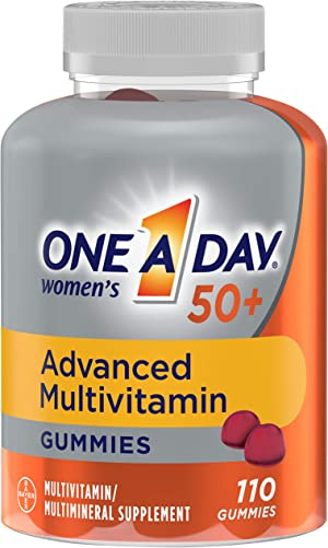 One A Day Women's 50+ Gummies Advanced Multivitamin with Brain Support, Super 8 B vitamin complex, 110 Count
