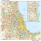 Amazon.com: ZIP Code Wall Map of Chicago, IL ZIP Code Map Laminated ...