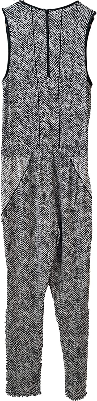 Tart Collections Womens Black /& White Python Print Jumpsuit Jumper Size Medium