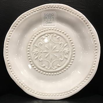 Sigrid Olsen Home Dishwasher Safe Indoor/Outdoor 100% Melamine Set of 4 Dinner Plates & Amazon.com | Sigrid Olsen Home Dishwasher Safe Indoor/Outdoor 100 ...