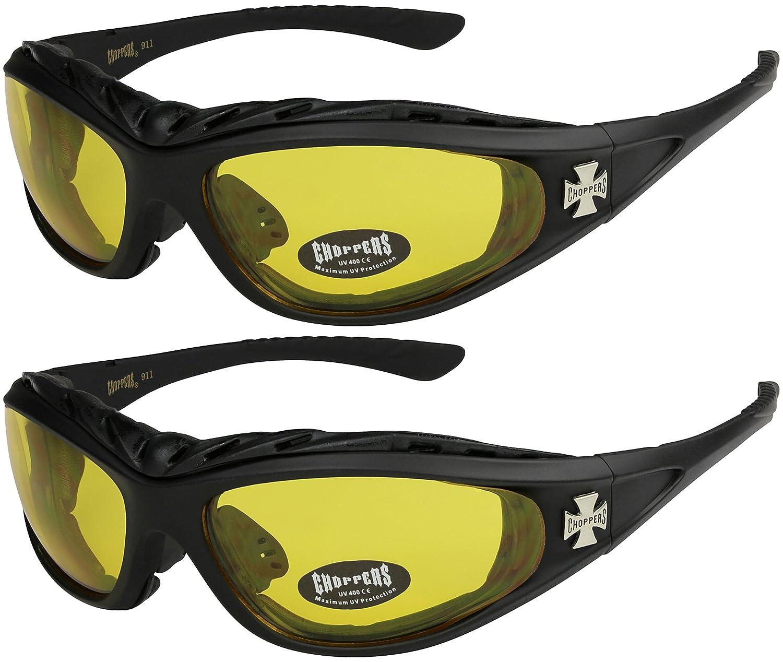 silber und wei/ß anthrazit X-CRUZE 2er Pack Choppers 911 X 03 Sonnenbrillen Motorradbrille Sportbrille Radbrille mit Polsterung in den Farben schwarz