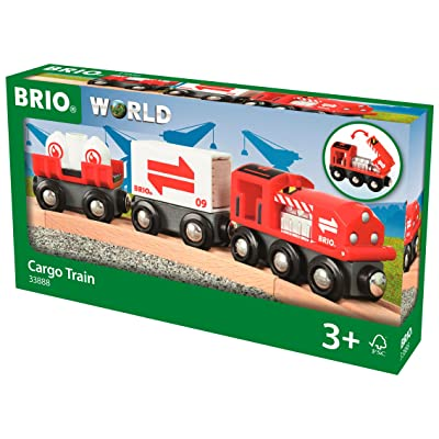 Brio Cargo Train World - Train (33888) - Wooden Train - Compatible with All Wooden Train Sets: Toys & Games