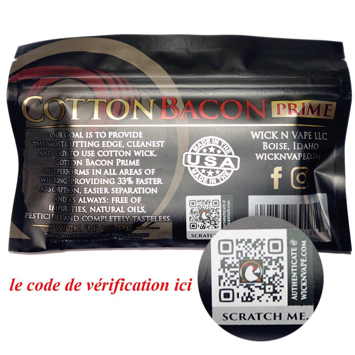 Wick `N/´ Vape Cotton Bacon Prime Wickelwatte 10 Gramm