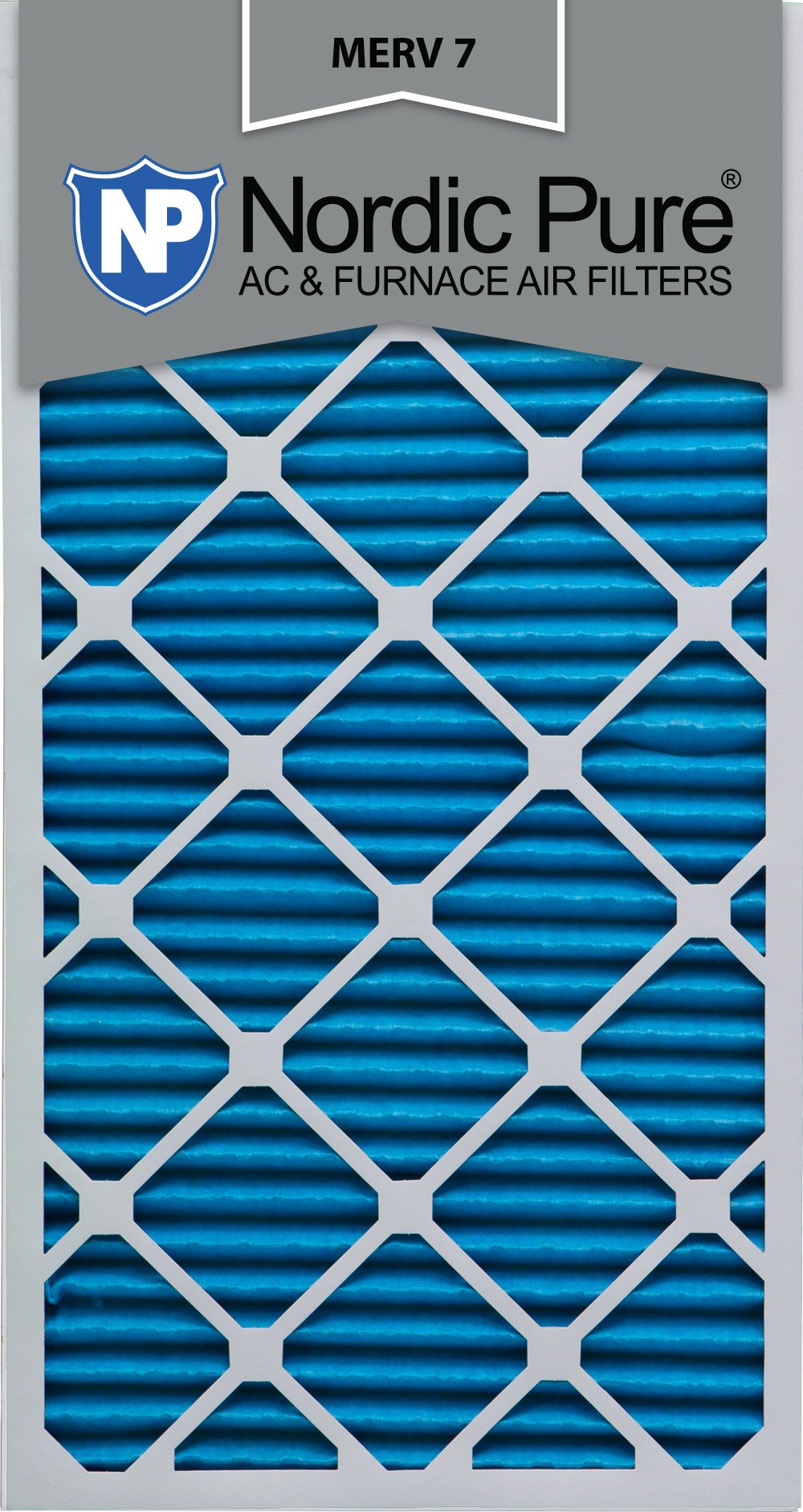 Nordic Pure 20x30x1M7-2 MERV 7 AC Furnace Filter 20x30x1 Pleated Merv 7 AC Furnace Filters Qty 2