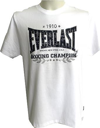 Everlast - Camiseta - para hombre blanco extra-large: Amazon.es ...