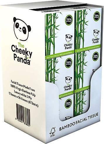 La Cheeky Panda 100% bambú tejido facial, pack de 12, total 672 tejidos: Amazon.es: Salud y cuidado personal
