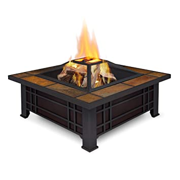 Charming Real Flame Morrison Wood Burning Fire Pit