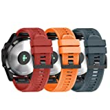 Amazon Price History for:ANCOOL for Garmin Fenix 5 Band Easy Fit 22mm Width Soft Silicone Watch Strap for Garmin Fenix 5