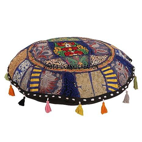 Hermoso y decorativo puf de camarero indio de ruonda ...